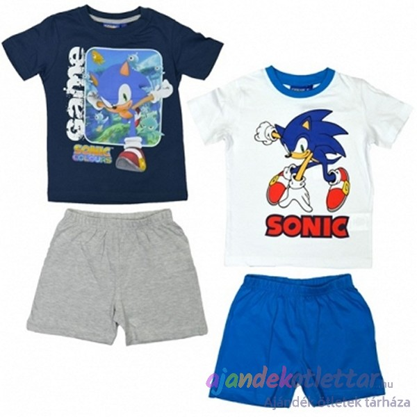 Sonic Fiú pizsama fehér-kék  459a40cfa1